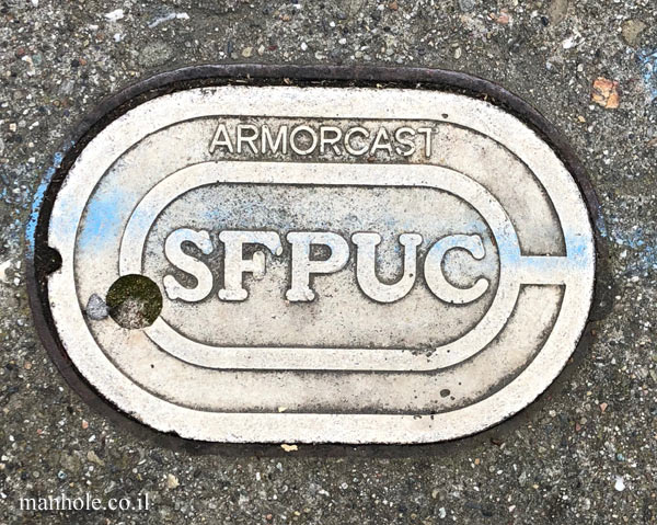 San Francisco - Water - SFPUC - Very small elliptic cover