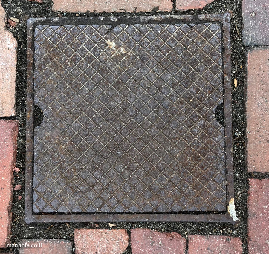 Lexington - a square cover with a grid of diagonals