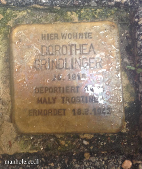 "Salzburg - ""Stumbling stone"" - a memorial plaque in the  DOROTHEA GRINDLINGER house"
