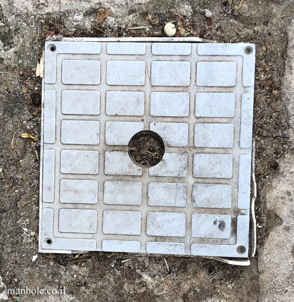 Chalkidiki - Afytos - A small square cover with hole in center