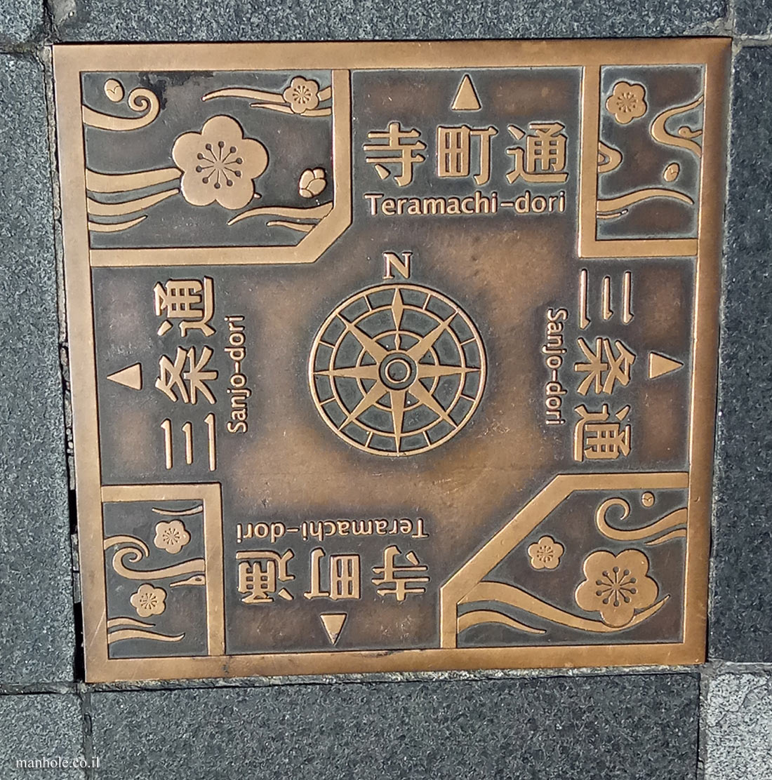 Kyoto - boards indicating directions to streets in the city