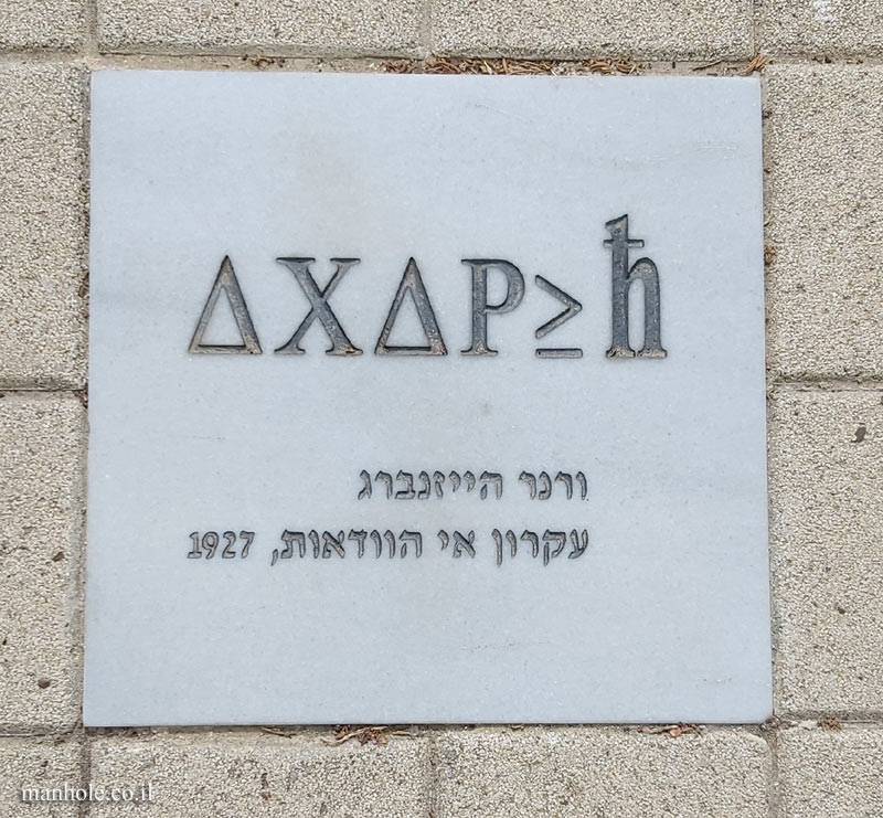 Tel Aviv University - Antin Square tiles - Uncertainty principle (Heisenberg)