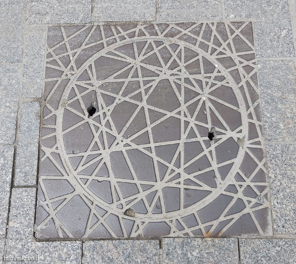 Budapest - Cover with a grid of lines at different angles