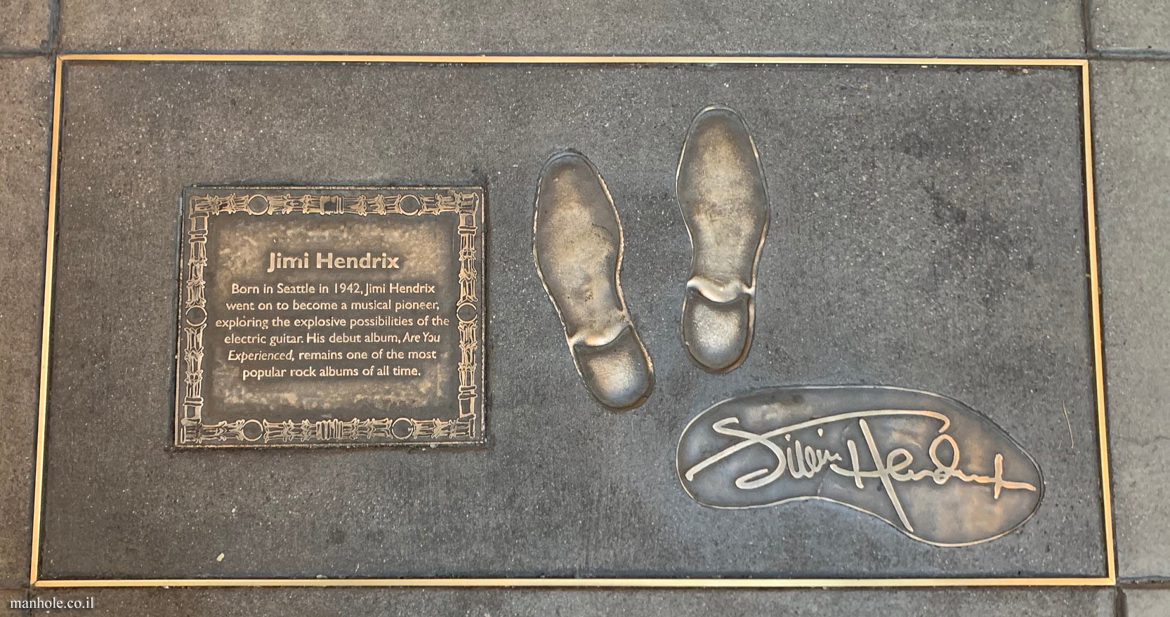 Seattle Walk of Fame - Jimmy Hendrix