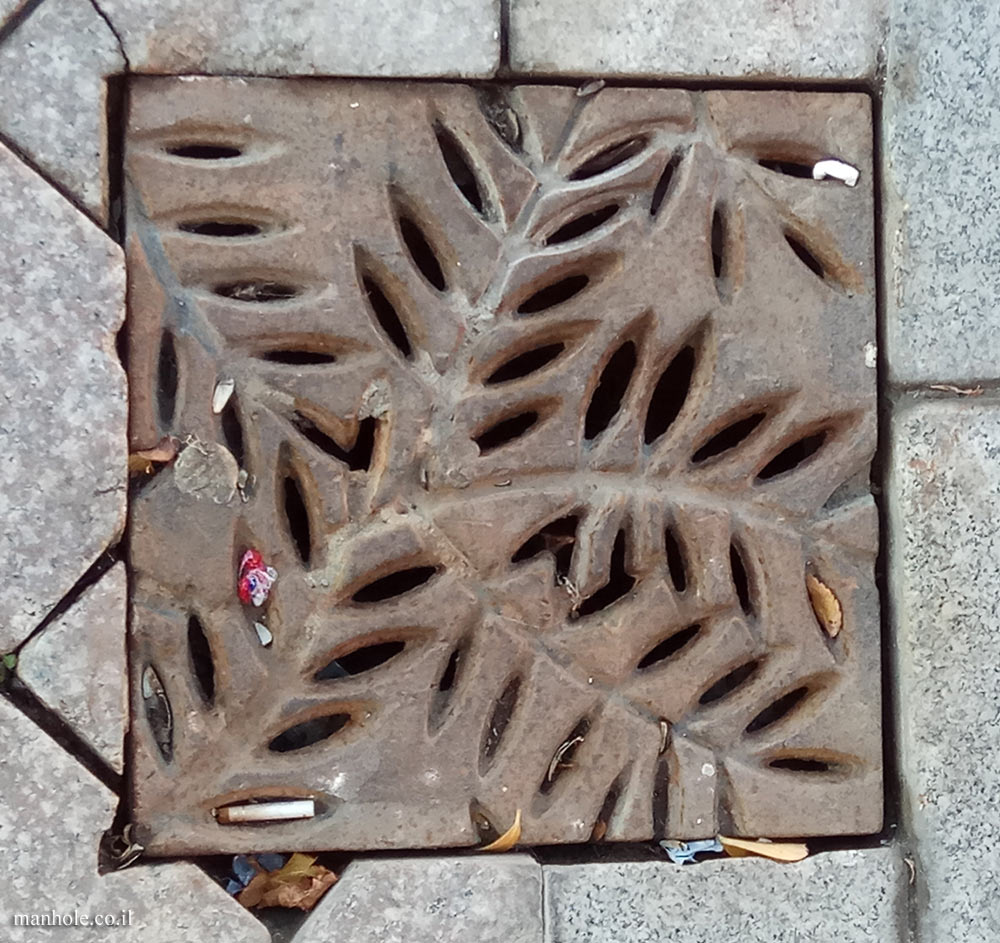 Baku - Drain cover with grooves in the shape of tree leaves
